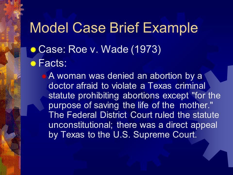 What is a Case Brief?  A case brief is a condensed, concise ...