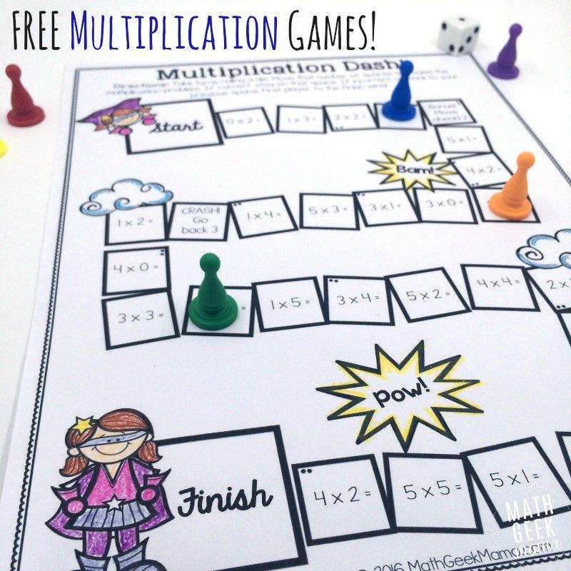 Easy, Low Prep Printable Multiplication Games! {FREE}