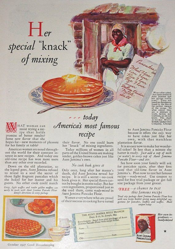 Aunt Jemima / 1920's Good Housekeeping Magazine Advertisement ...