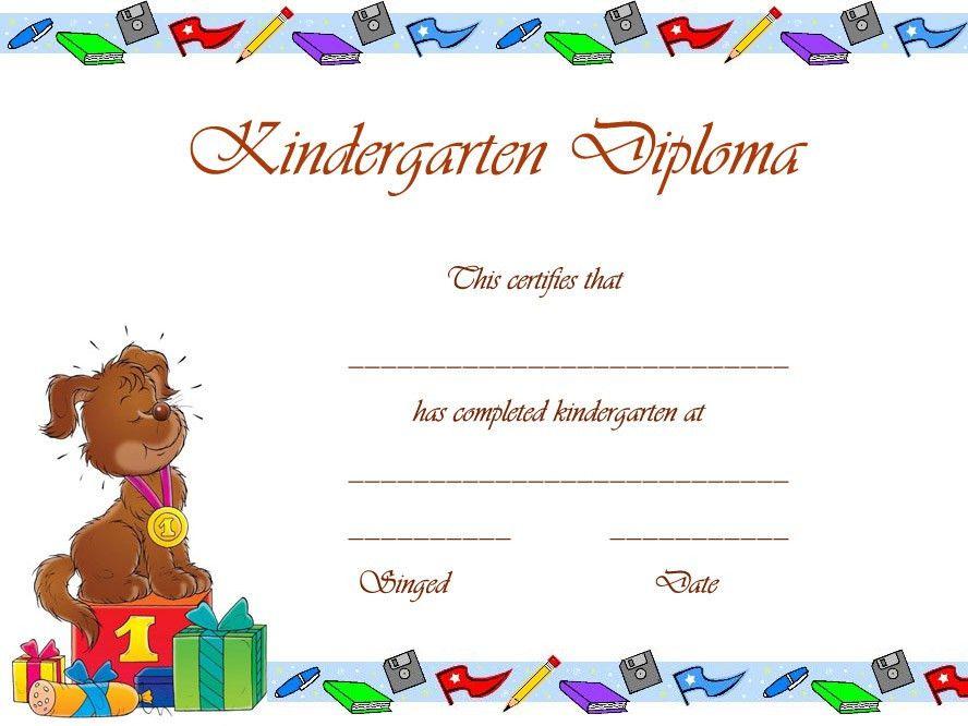 Free Printable Kindergarten Graduation Certificate Template ...