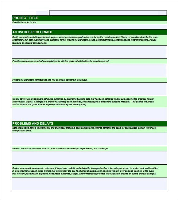 10+ Monthly report format templates - Word Excel PDF Formats