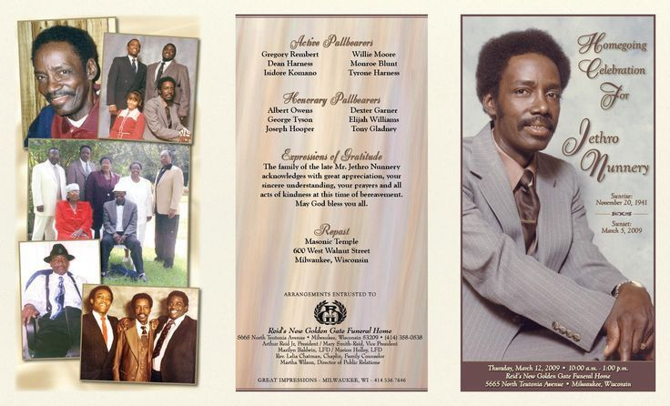 Best Photos of Black Funeral Obituary Cover Examples - Sample ...