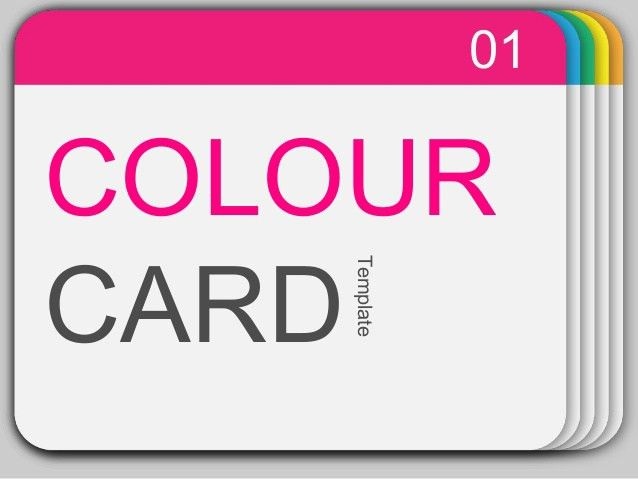 Power Point Templates - 16 colour card