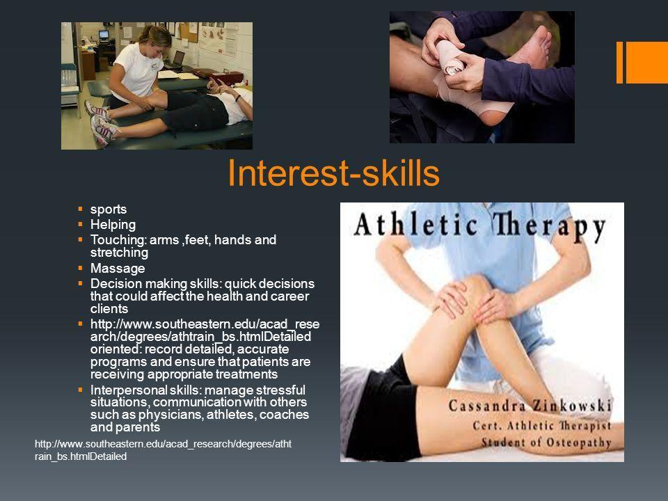Athletic Trainer By: Kamry Dominique. Job description  provides ...