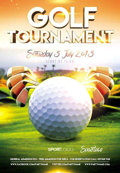 14 Awesome golf tournament flyer psd images | kk | Pinterest | Golf