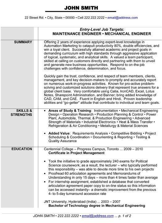 Electrical Maintenance Engineer Sample Resume ...