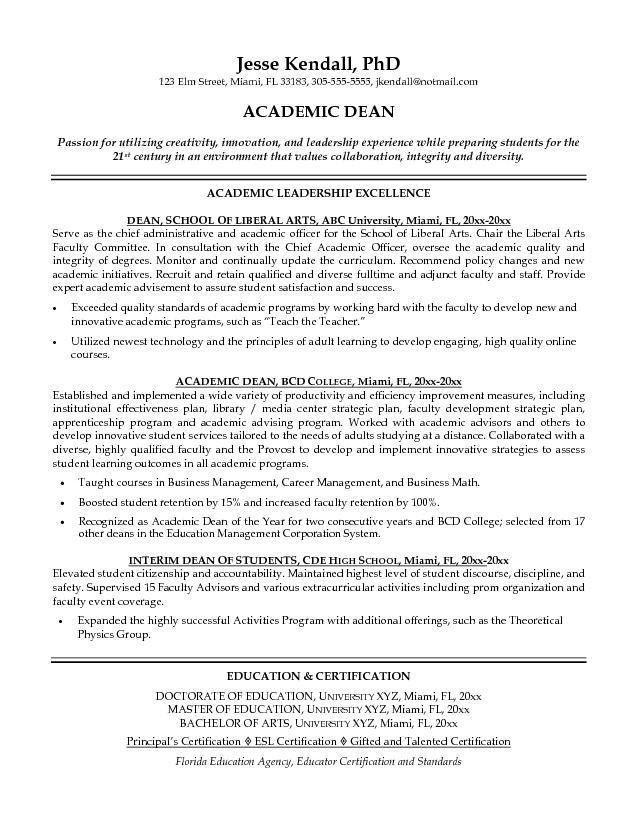 Academic Templates Curriculum Vitae Tips and Samples ...