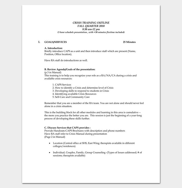 Training Course Outline Template - 24+ Free For Word & PDF Format
