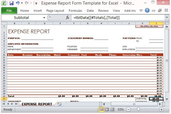 Expense Statement Template. Profit And Loss Statement Template 05 ...