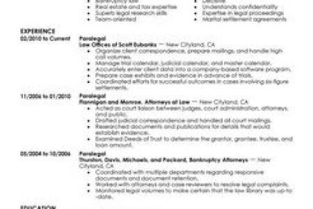 Resume Samples And Templates For Paralegal Great Paralegal Resume ...