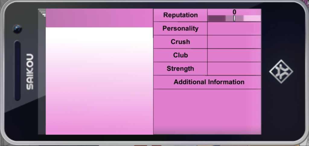 Yandere Simulator Student Profile Template(PHONE) by Kobatochan09 ...