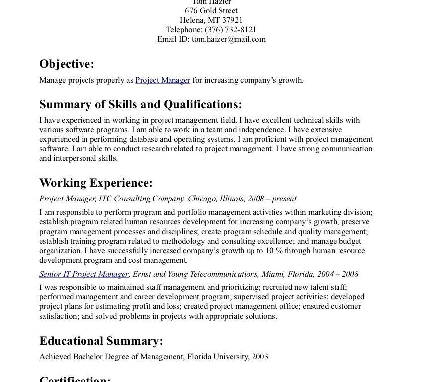 Resume Objective Statement - CV Resume Ideas