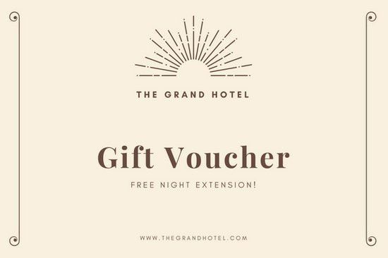 Cream and Brown Hotel Gift Certificate - Templates by Canva