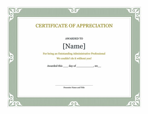 Certificate of appreciation word template word certificate certificates office yadclub Image collections