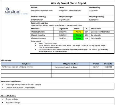 Project Management Foundations - Project Status Reporting ...