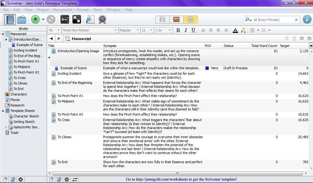 Romance Writers: New Scrivener Template! | Jami Gold, Paranormal ...