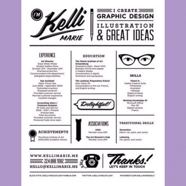 Can I Incorporate Graphic Design Into My Resume? | Intern Queen ...