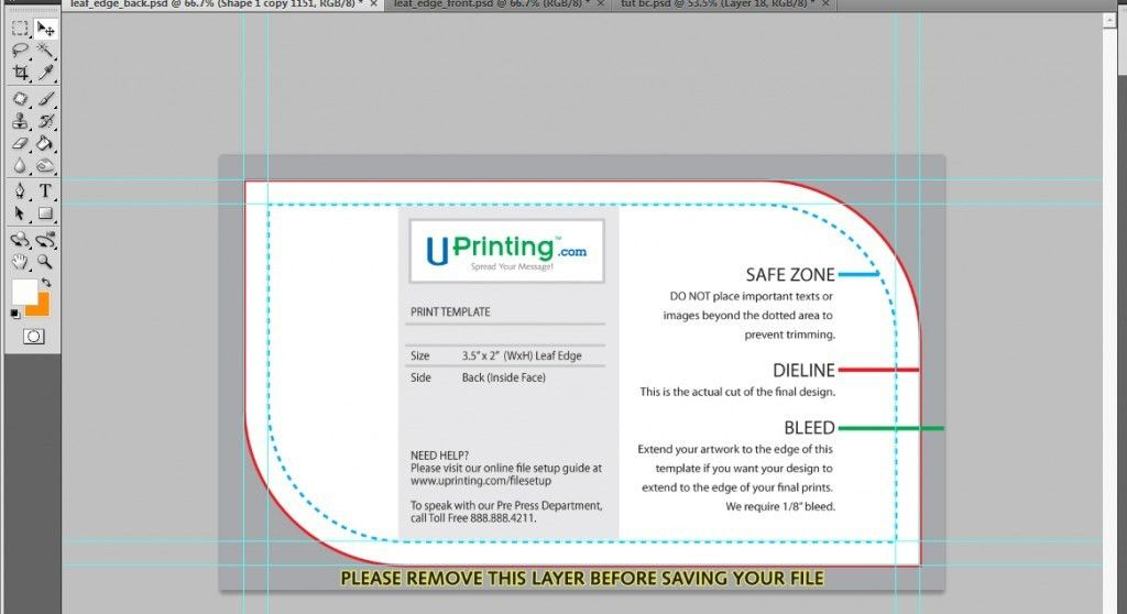 UCreative.com - A Cool Photoshop Business Card Tutorial for Print ...