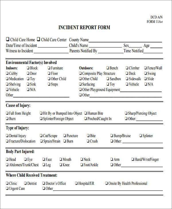 43 Incident Report Samples