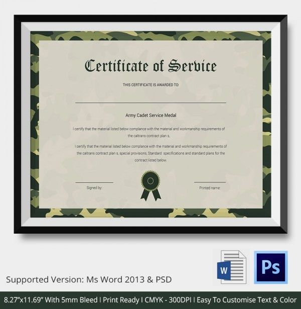 Certificate of Service Template - 9+ Free Word, PDF Documents ...