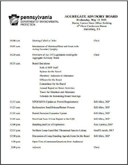 Nonprofit Board Meeting Agenda Template - vnzgames