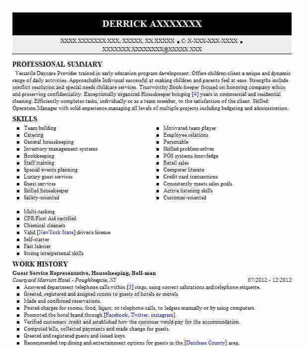 Best Guest Service Representative Resume Example | LiveCareer