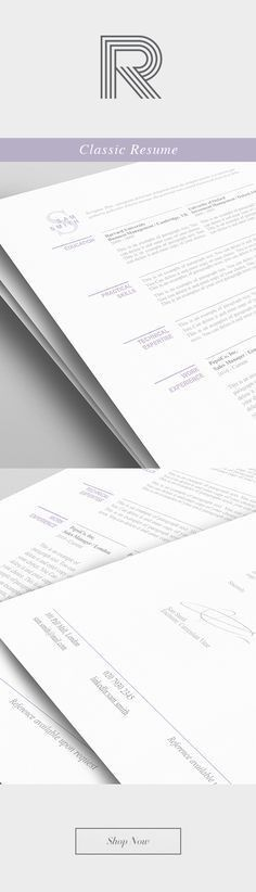 Elegant Resume Template 110460 - Premium line of Resume & Cover ...