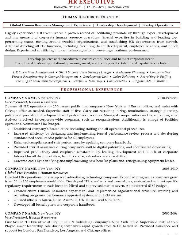 hr manager sample resume resume sample for hr manager resume
