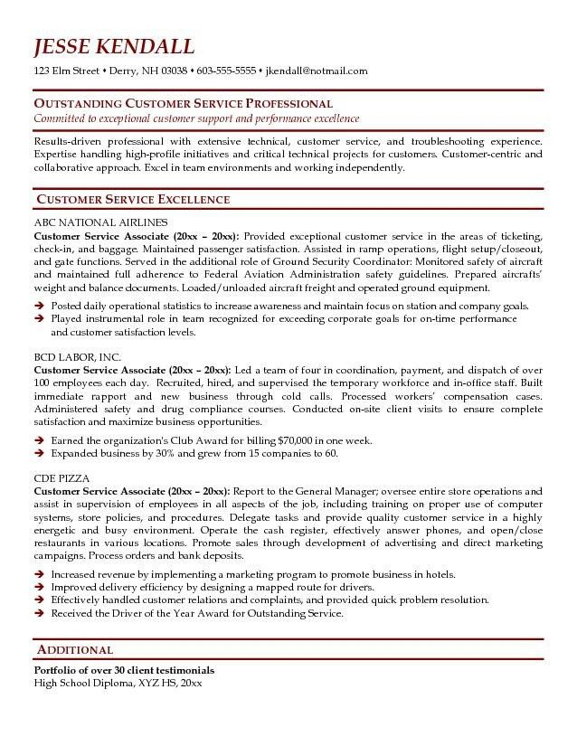 12 Customer Service Resume Sample Free Easy Samples With 25 ...