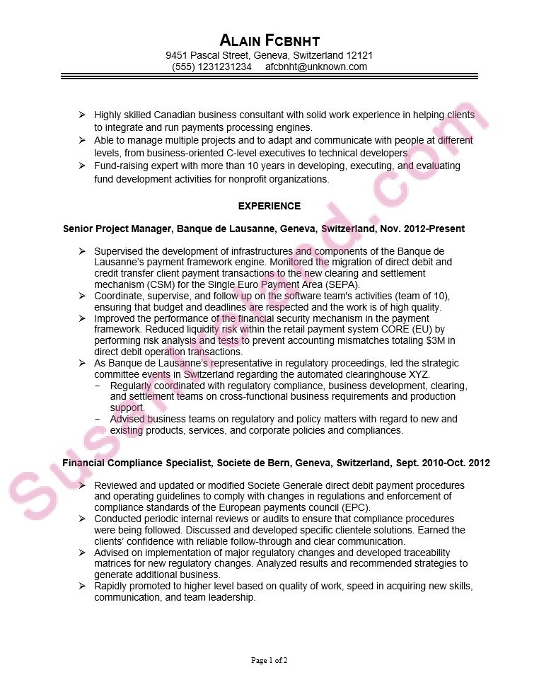 Resume Sample for MBA College Application - Susan Ireland Resumes