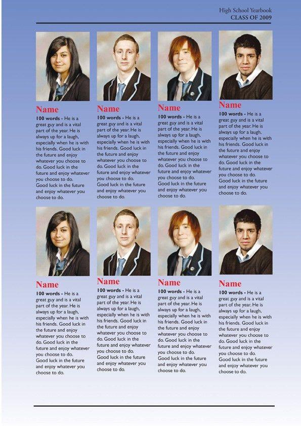 School Year Book Samples