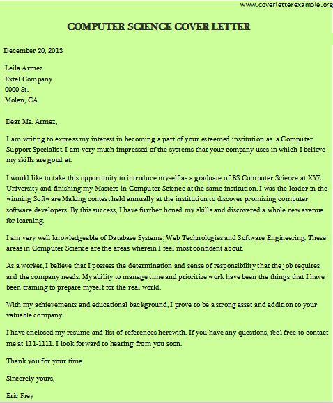 Sample – Database Programmer in Science Cover Letter - My Document ...