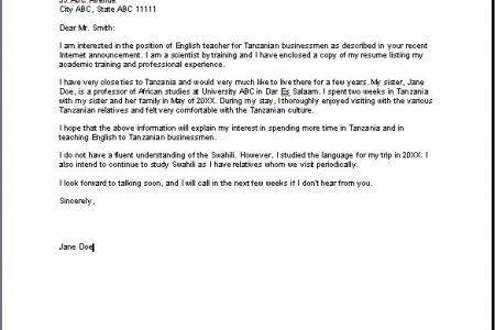 Art Teacher Cover Letter Sample for job application Cover Letters ...