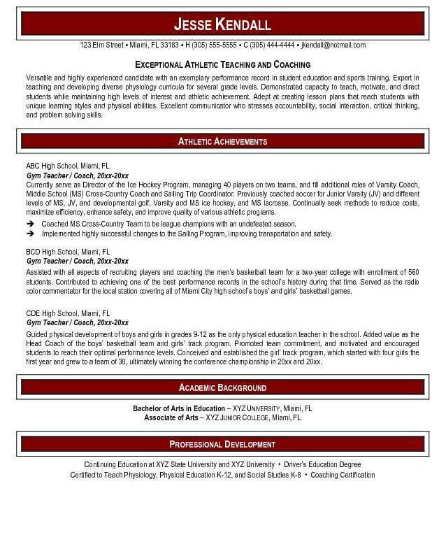 Well-Suited Physical Education Teacher Resume 11 - Resume Example