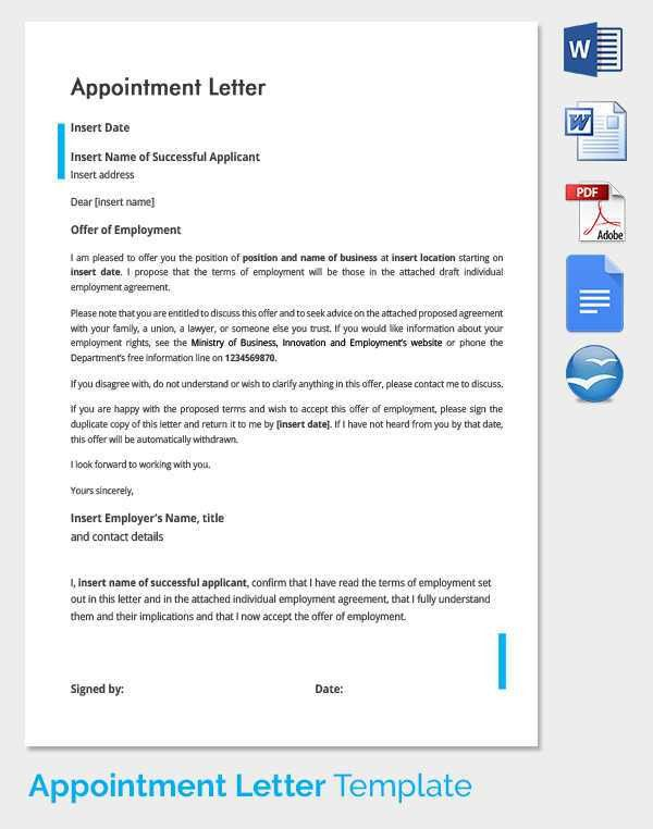 33+ Appointment Letter Templates - Free Sample, Example Format ...