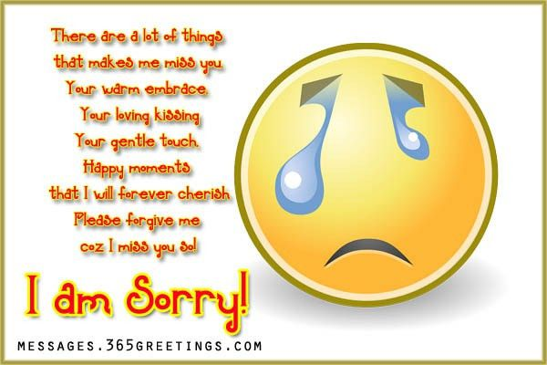 Sorry Messages for Boyfriend - 365greetings.com