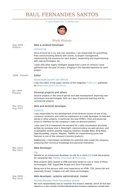 Android Developer Resume samples - VisualCV resume samples database