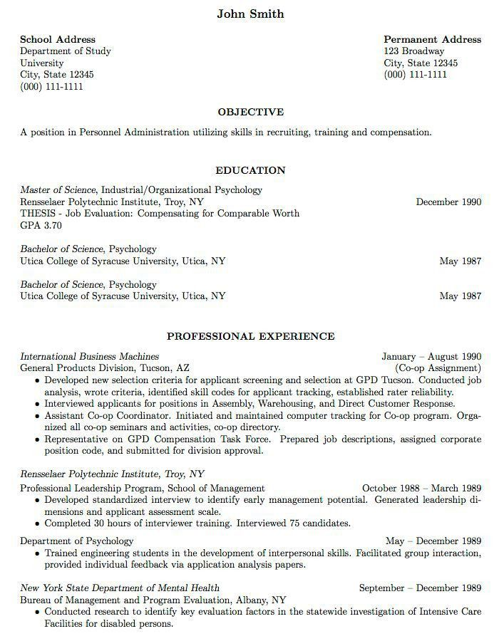 resume for fresh graduate without experience template resume and ...