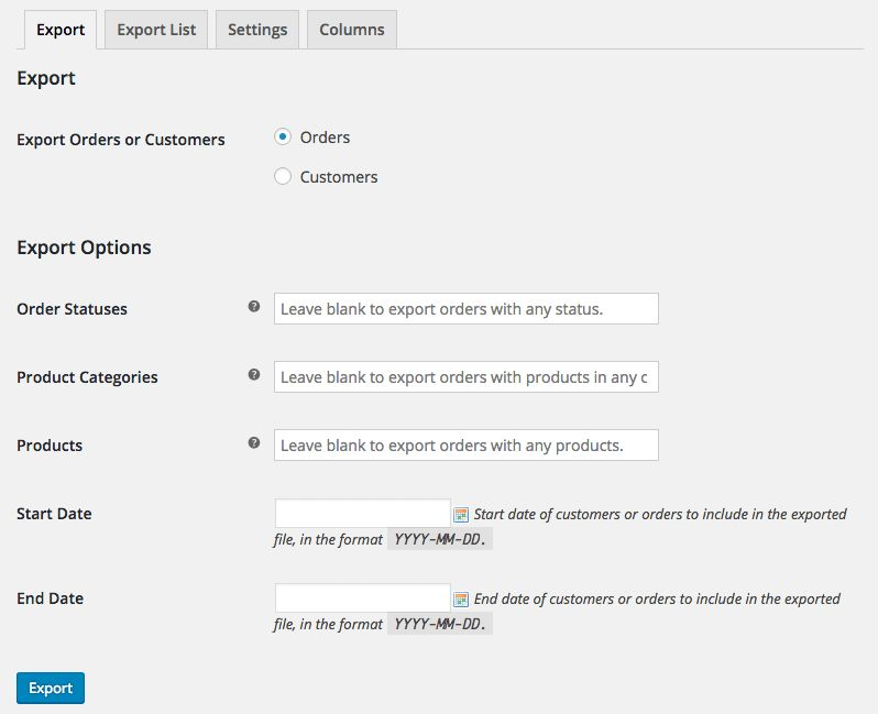 WooCommerce Customer / Order CSV Export - WooCommerce
