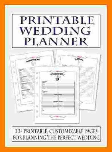 11+ free printable wedding planner templates | hostess resume