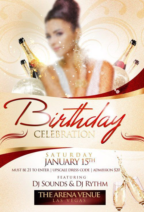 Flyer Template - Birthday Celebration » NitroGFX - Download Unique ...