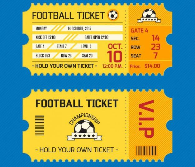 16 Free Ticket Design Templates for Download - DesignYep