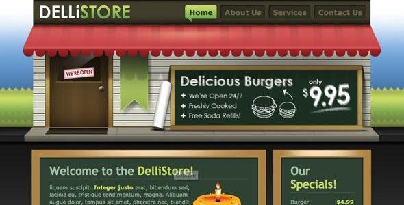 Free and Premium Restaurants/Cafes Website Templates - Designmodo
