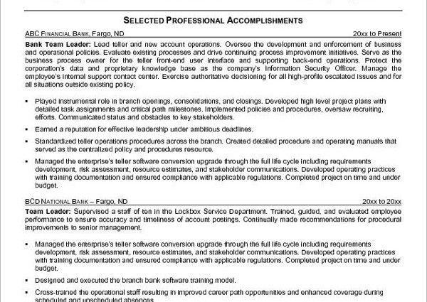 Teller Resume. Bank Teller Resume Template - 5+ Free Word, Excel ...