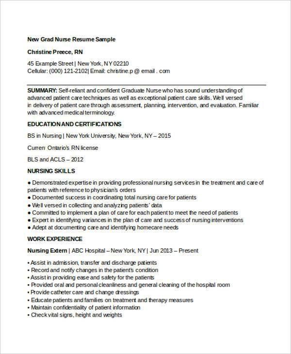 6+ Nursing Curriculum Vitae Templates - Free Word, PDF Format ...