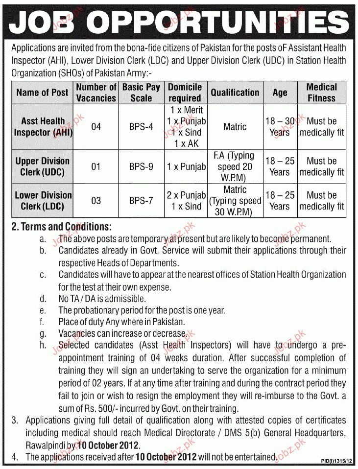 Assistant Health Inspector, UDC and LDC Job Opportunity 2017 Jobs ...