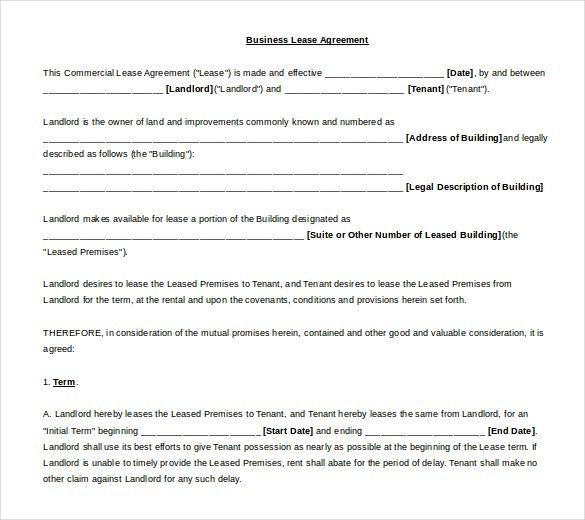 11+ Lease Templates Word 2010 Format Free Download   Free ...