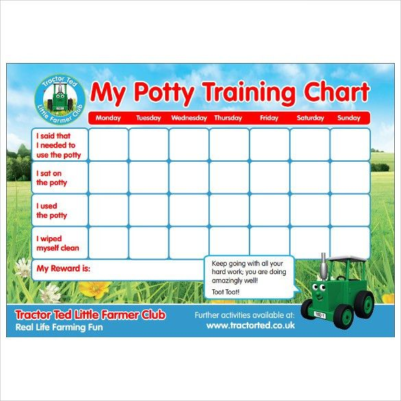 Potty Training Charts - 9+ Download Free Documents In PDF