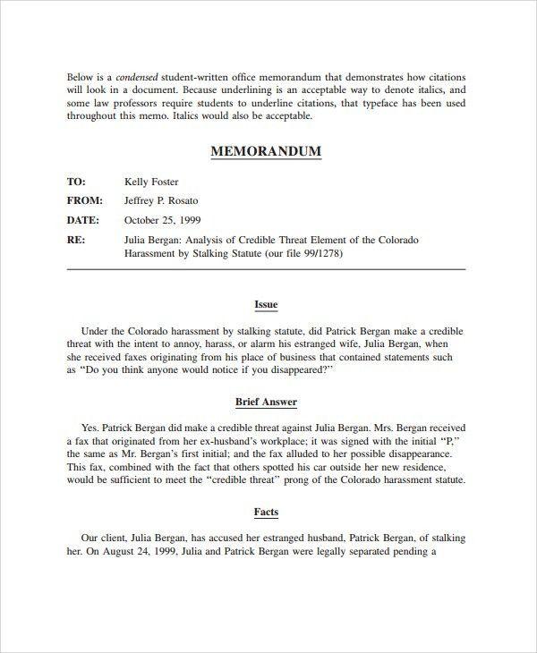 Sample Memo Format - 19+ Documents in PDF, Word