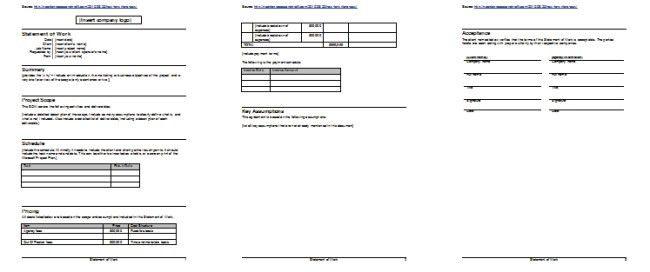 Statement Of Work Template | ossaba.com